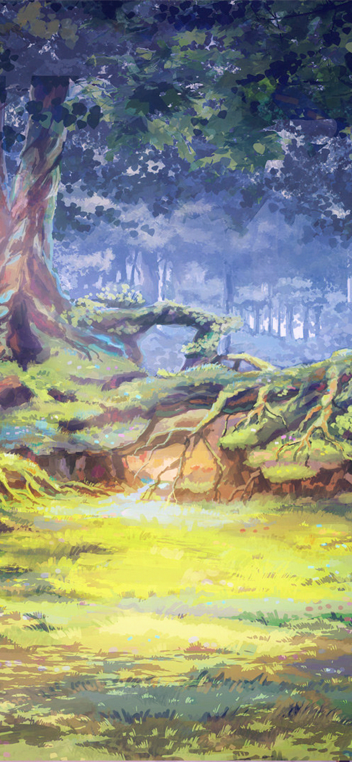 iPhonexpapers.com-Apple-iPhone-wallpaper-ax70-arseniy-chebynkin-nature-illustration-art-forest