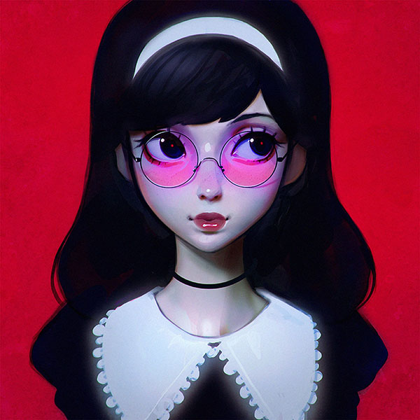 iPapers.co-Apple-iPhone-iPad-Macbook-iMac-wallpaper-ax75-ilya-kuvshinov-red-girl-illustration-art-wallpaper
