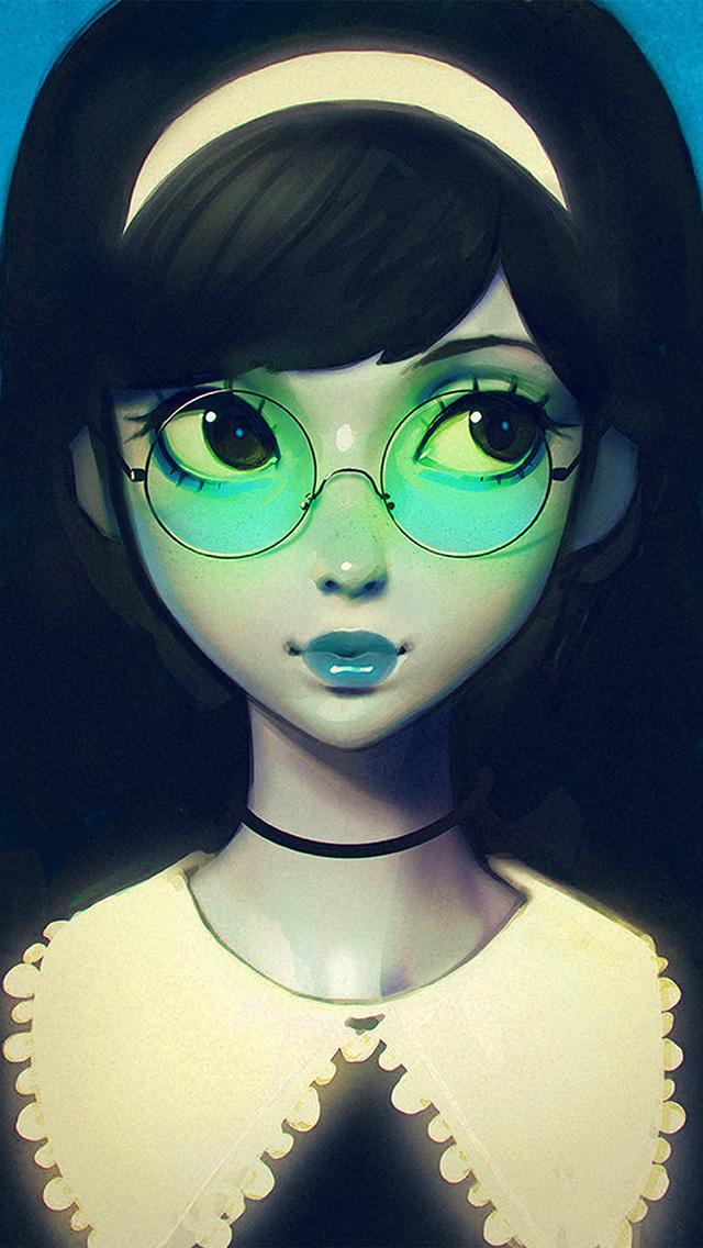 freeios8.com-iphone-4-5-6-plus-ipad-ios8-ax76-ilya-kuvshinov-girl-illustration-art-blue