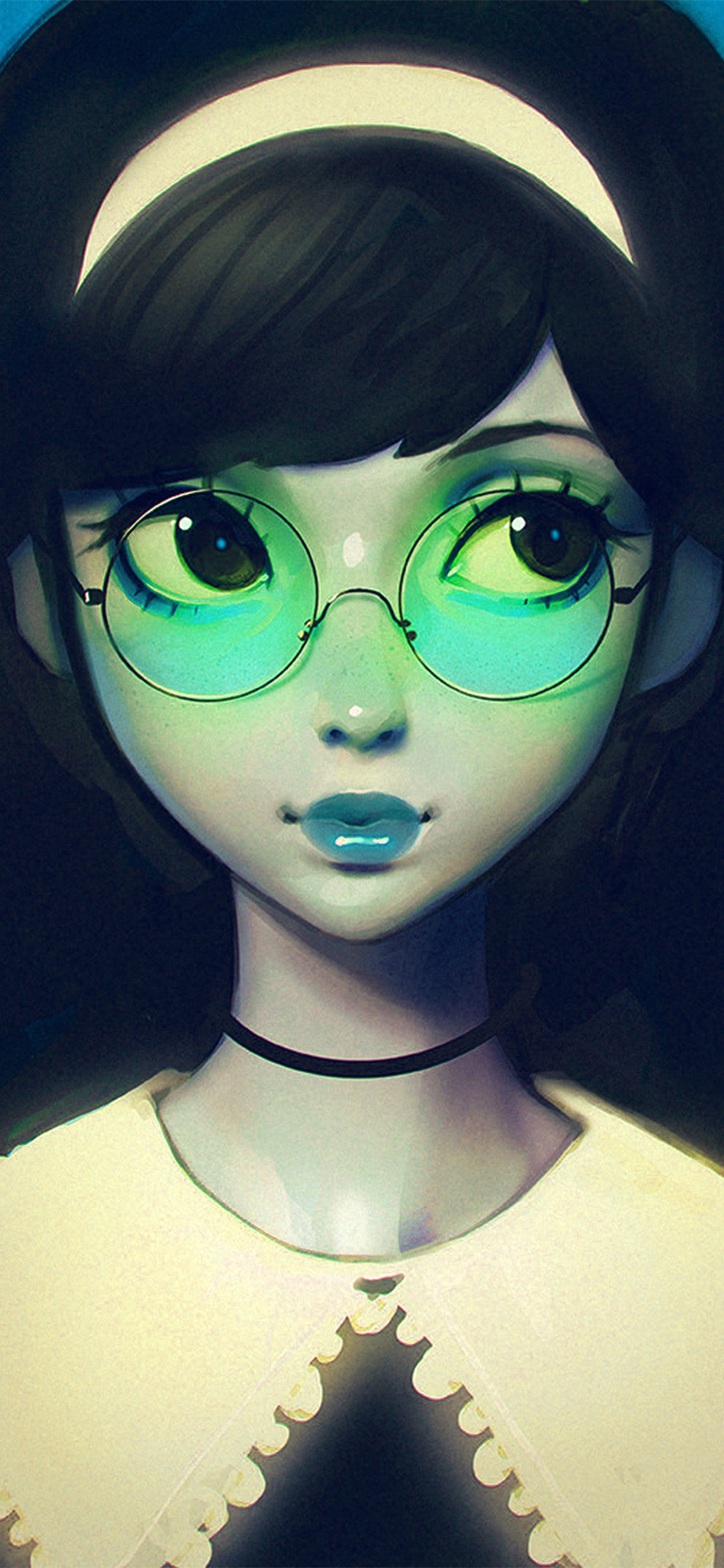 iPhonexpapers.com-Apple-iPhone-wallpaper-ax76-ilya-kuvshinov-girl-illustration-art-blue