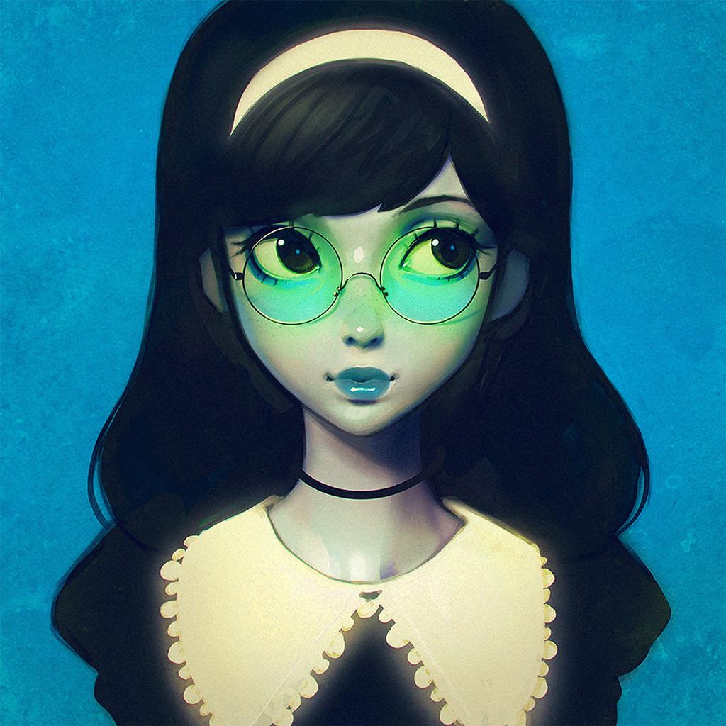 wallpaper-ax76-ilya-kuvshinov-girl-illustration-art-blue-wallpaper