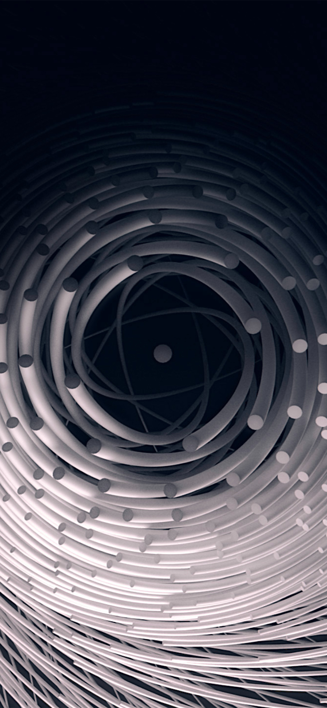 papers.co ax83 circle 3d dark abstact illustration art fantastic 41 iphone wallpaper