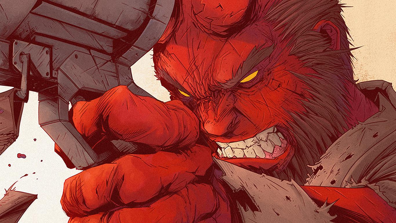 wallpaper-desktop-laptop-mac-macbook-ax99-tonton-revolver-hellboy-red-illustration-art