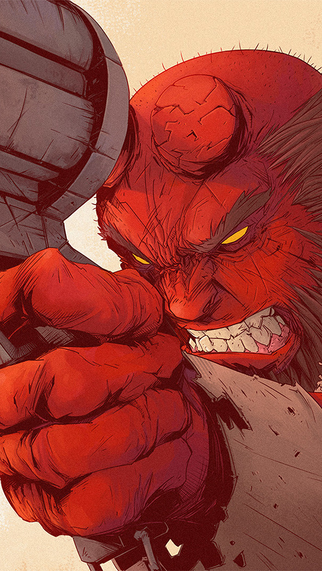 freeios8.com-iphone-4-5-6-plus-ipad-ios8-ax99-tonton-revolver-hellboy-red-illustration-art