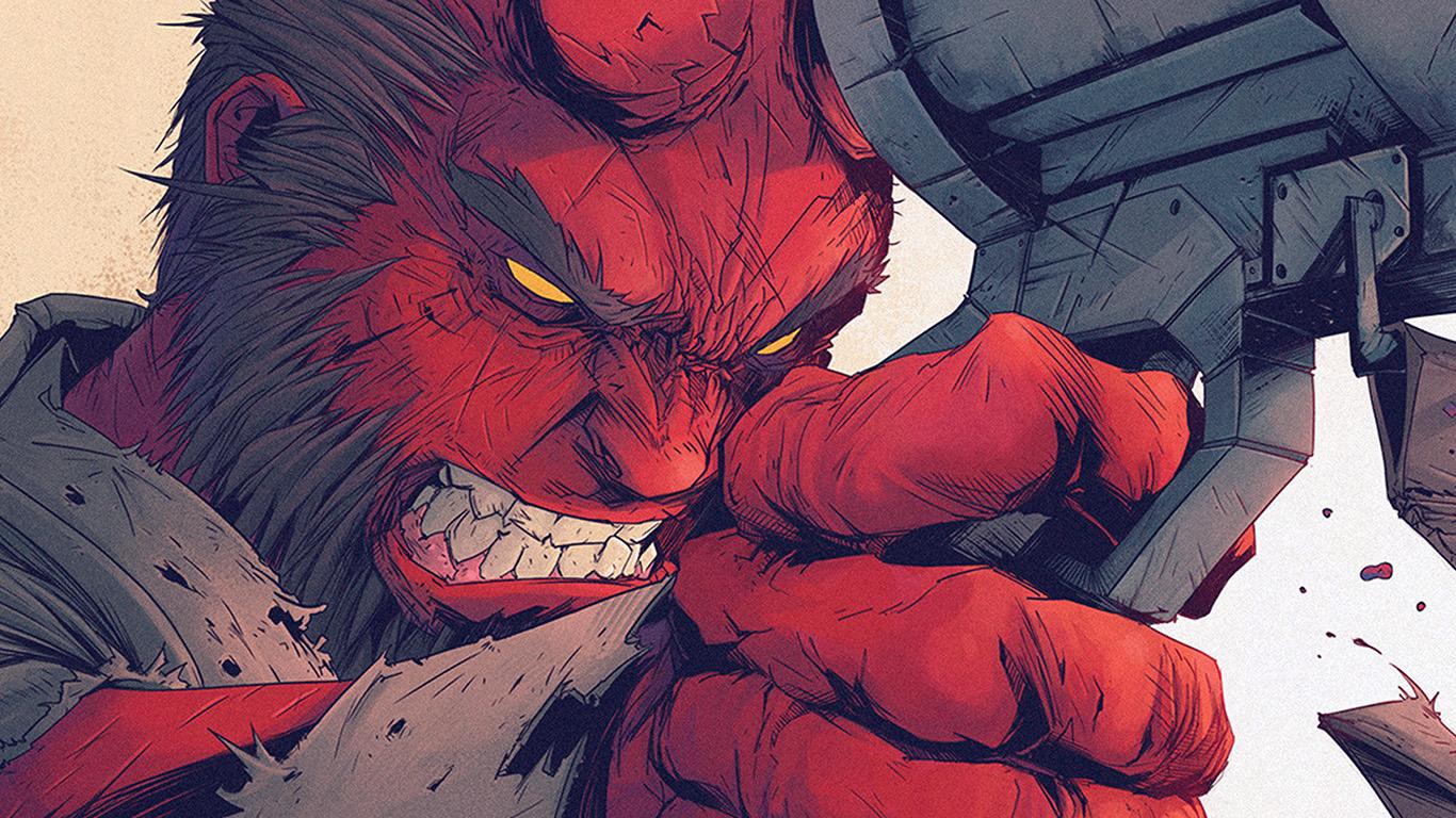 desktop-wallpaper-laptop-mac-macbook-air-ay00-tonton-revolver-hellboy-red-illustration-art-wallpaper