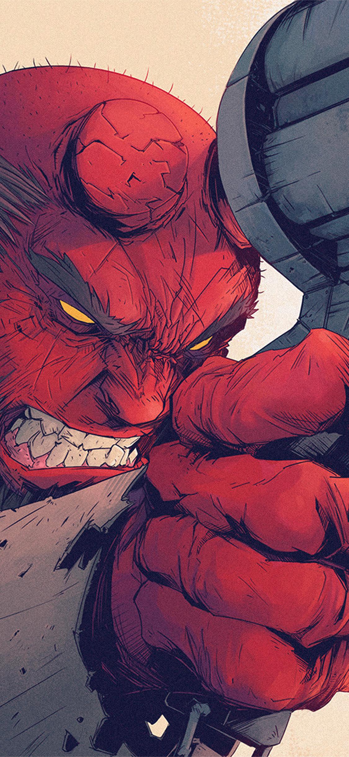 iPhoneXpapers.com-Apple-iPhone-wallpaper-ay00-tonton-revolver-hellboy-red-illustration-art