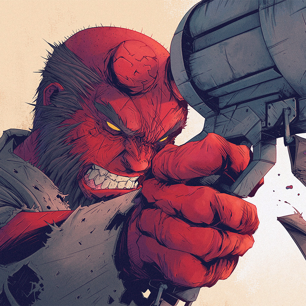 wallpaper-ay00-tonton-revolver-hellboy-red-illustration-art-wallpaper