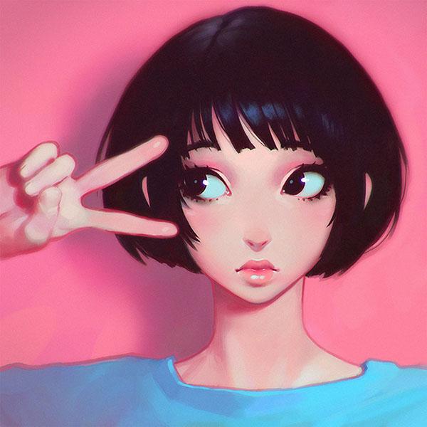 iPapers.co-Apple-iPhone-iPad-Macbook-iMac-wallpaper-ay03-ilya-kuvshinov-pink-girl-illustration-art-wallpaper