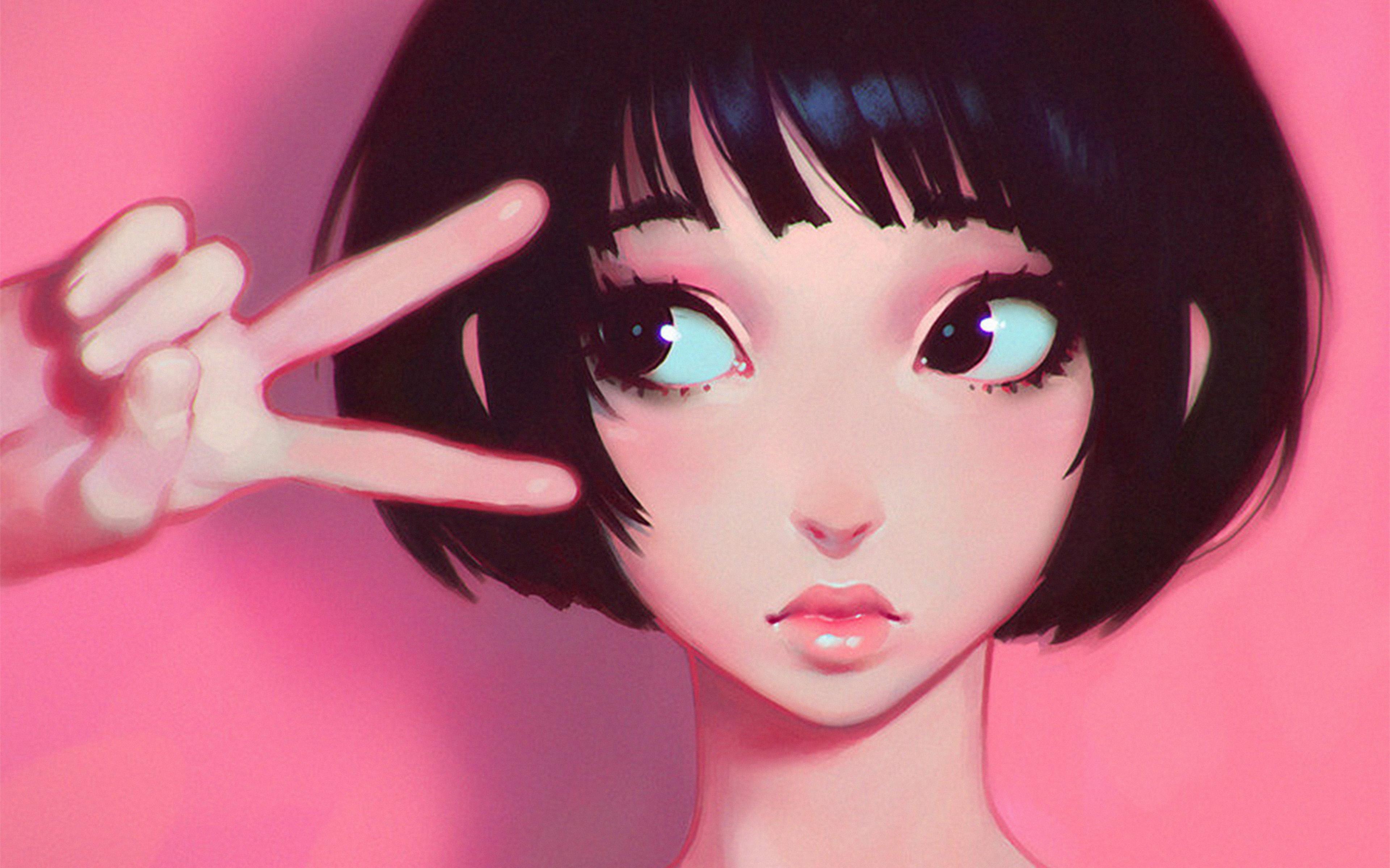 ay03-ilya-kuvshinov-pink-girl-illustration-art-wallpaper
