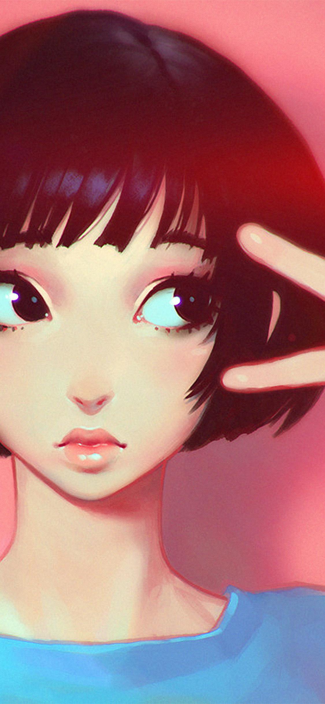 iPhonexpapers.com-Apple-iPhone-wallpaper-ay04-ilya-kuvshinov-pink-girl-illustration-art-pink-flare