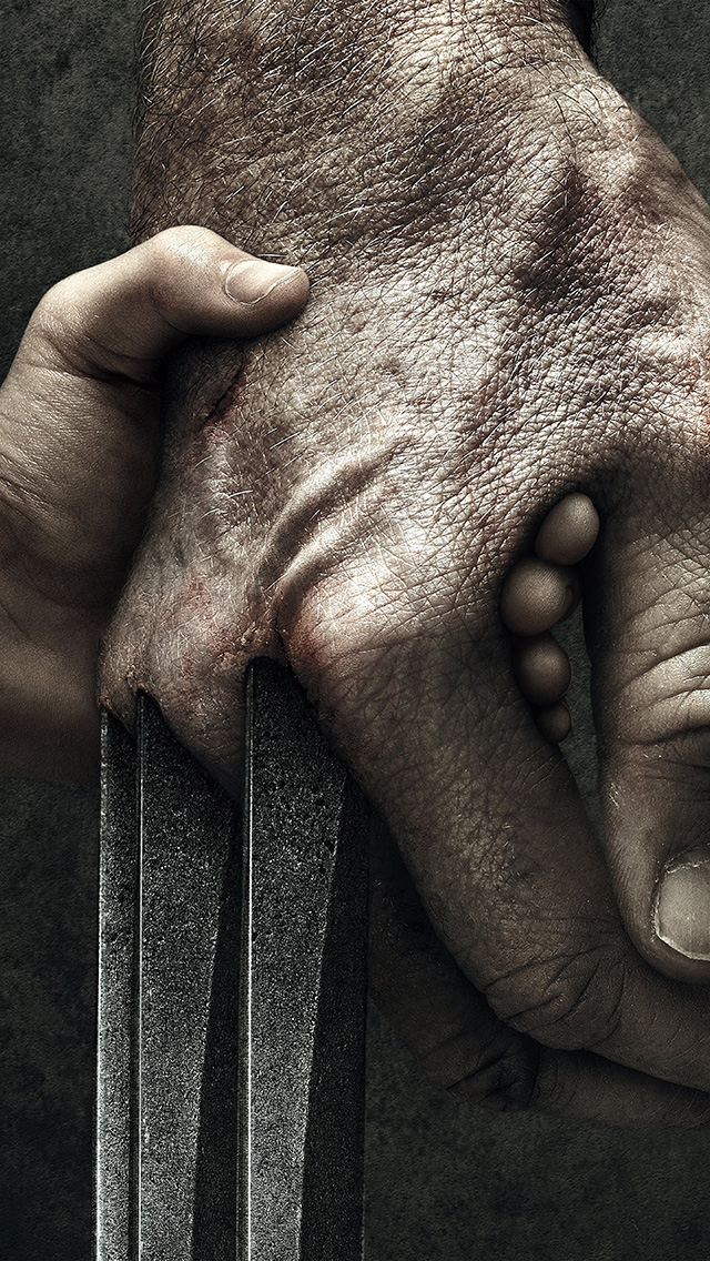 freeios8.com-iphone-4-5-6-plus-ipad-ios8-ay11-wolverine-logan-hand-film-illustration-art-hero