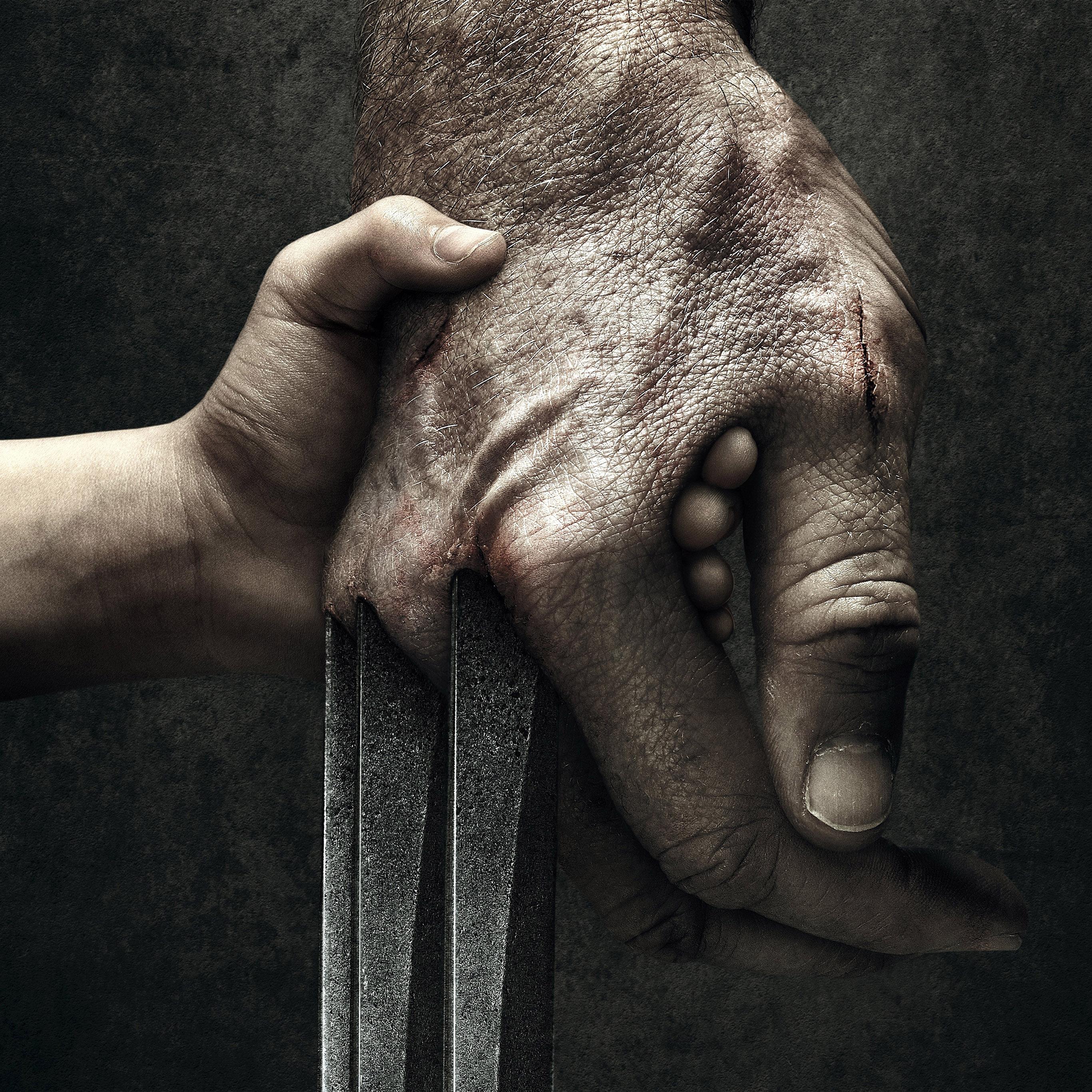 Ay11 Wolverine Logan Hand Film Illustration Art Hero Wallpaper