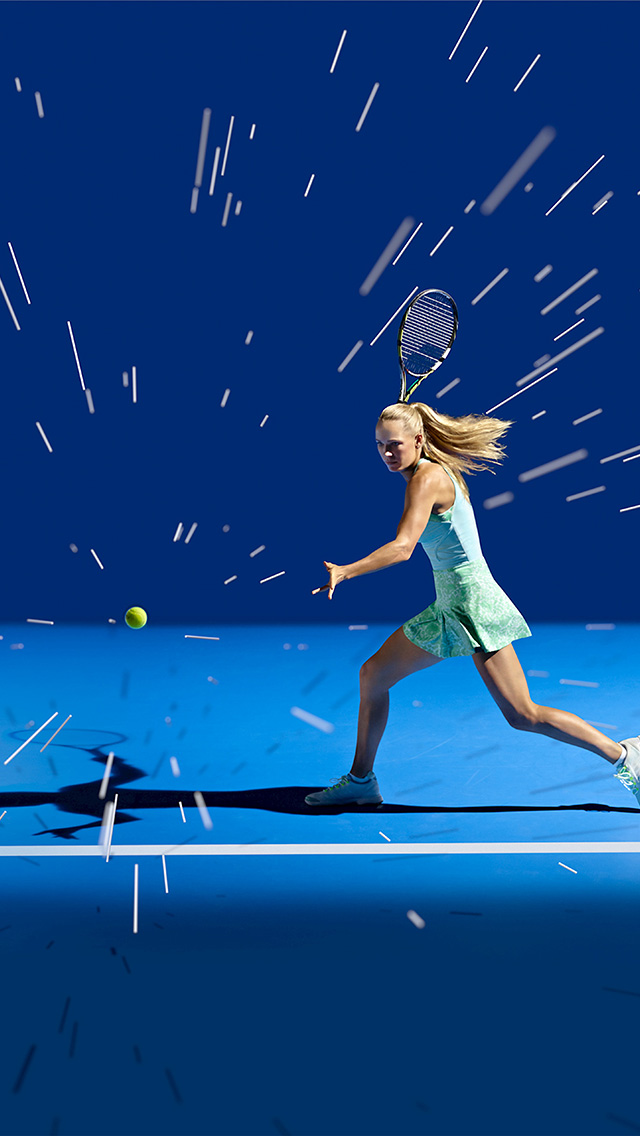 freeios8.com-iphone-4-5-6-plus-ipad-ios8-ay17-tennis-girl-blue-sports-illustration-art