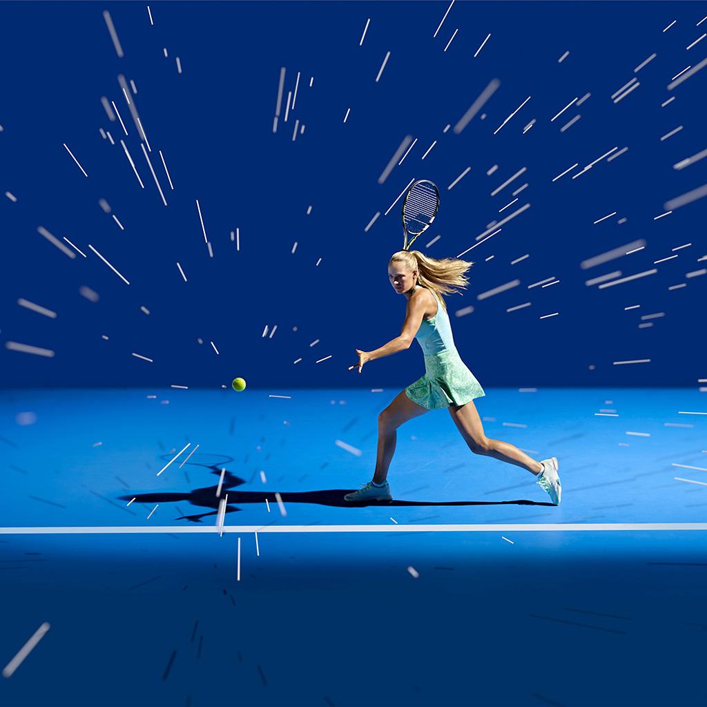 android-wallpaper-ay17-tennis-girl-blue-sports-illustration-art-wallpaper