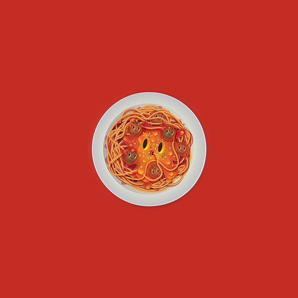 wallpaper-ay22-pasta-red-chracter-cute-illustration-art-wallpaper