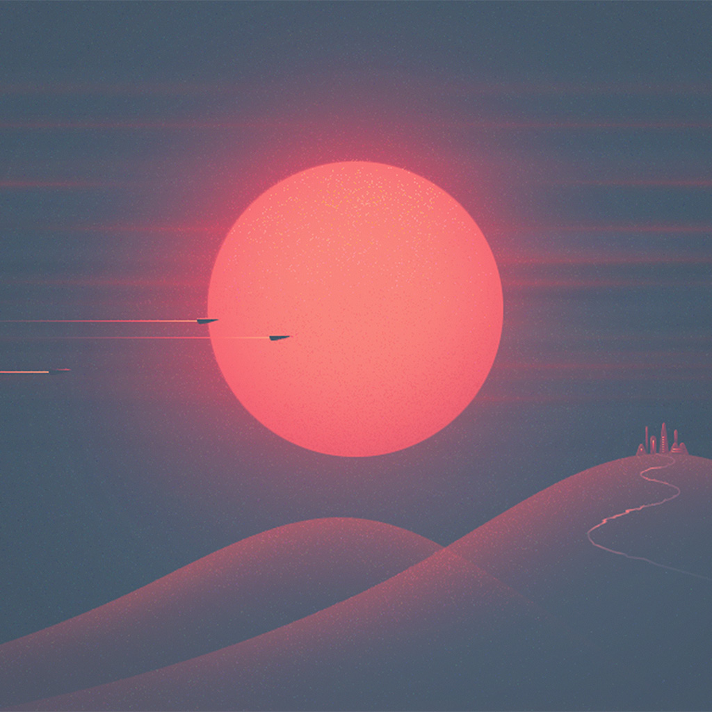wallpaper-ay27-sunset-red-minimal-illustration-art-wallpaper