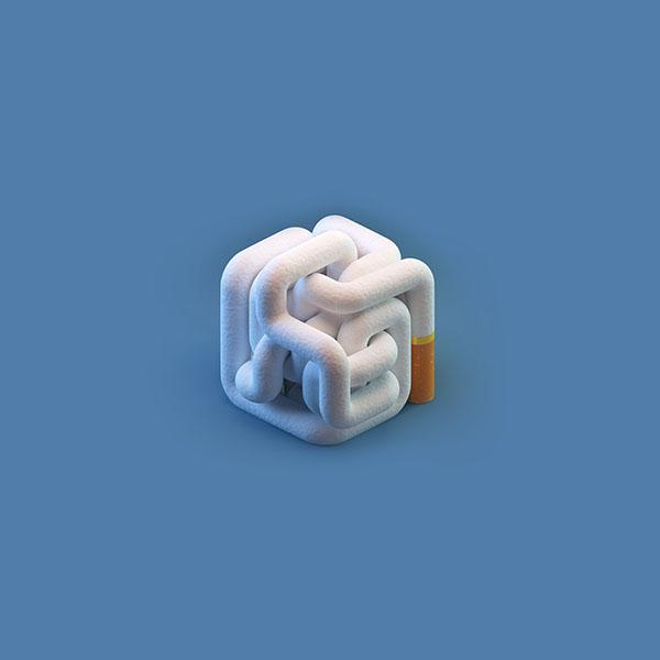iPapers.co-Apple-iPhone-iPad-Macbook-iMac-wallpaper-ay29-cigarette-smoke-minimal-blue-illustration-art-wallpaper