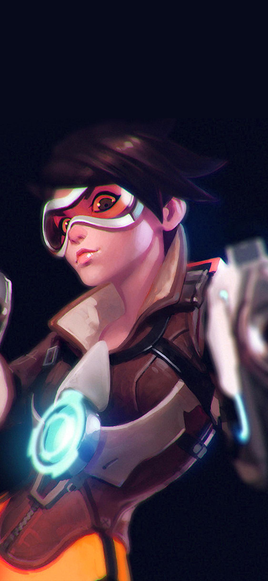 iPhonexpapers.com-Apple-iPhone-wallpaper-ay36-ilya-kuvshinov-overwatch-tracer-hero-game-illustration-art-blue