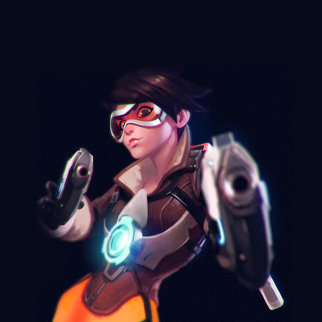 wallpaper-ay36-ilya-kuvshinov-overwatch-tracer-hero-game-illustration-art-blue-wallpaper