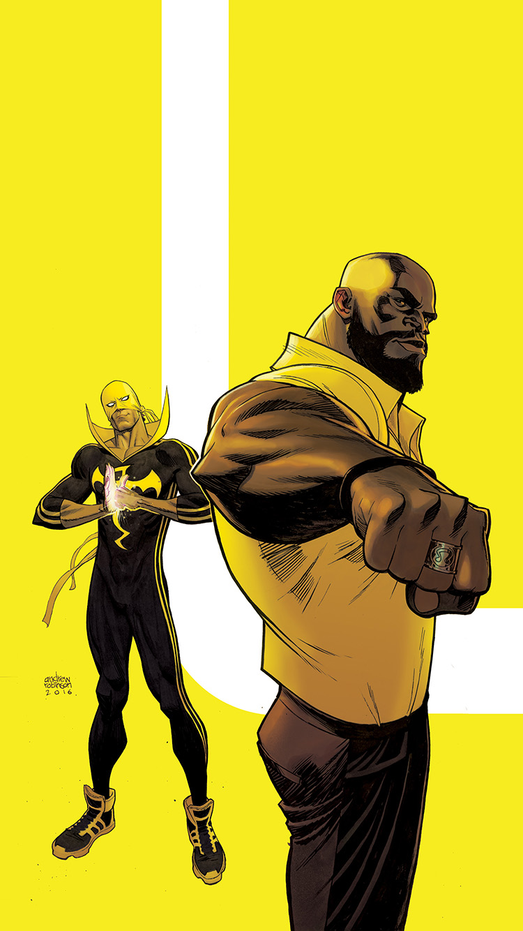 iPhone6papers.co-Apple-iPhone-6-iphone6-plus-wallpaper-ay42-ironfist-marvel-yellow-hero-illustration-art