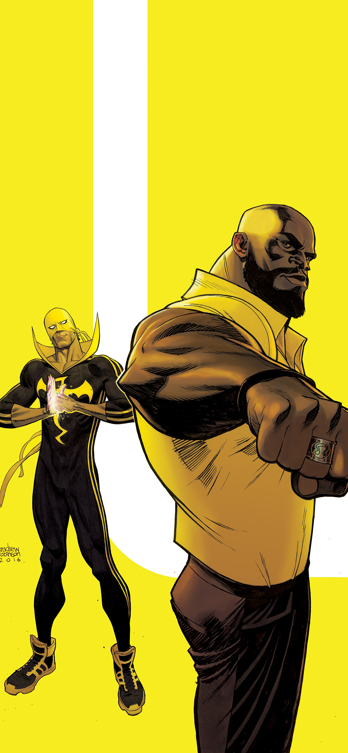 iPhoneXpapers.com-Apple-iPhone-wallpaper-ay42-ironfist-marvel-yellow-hero-illustration-art