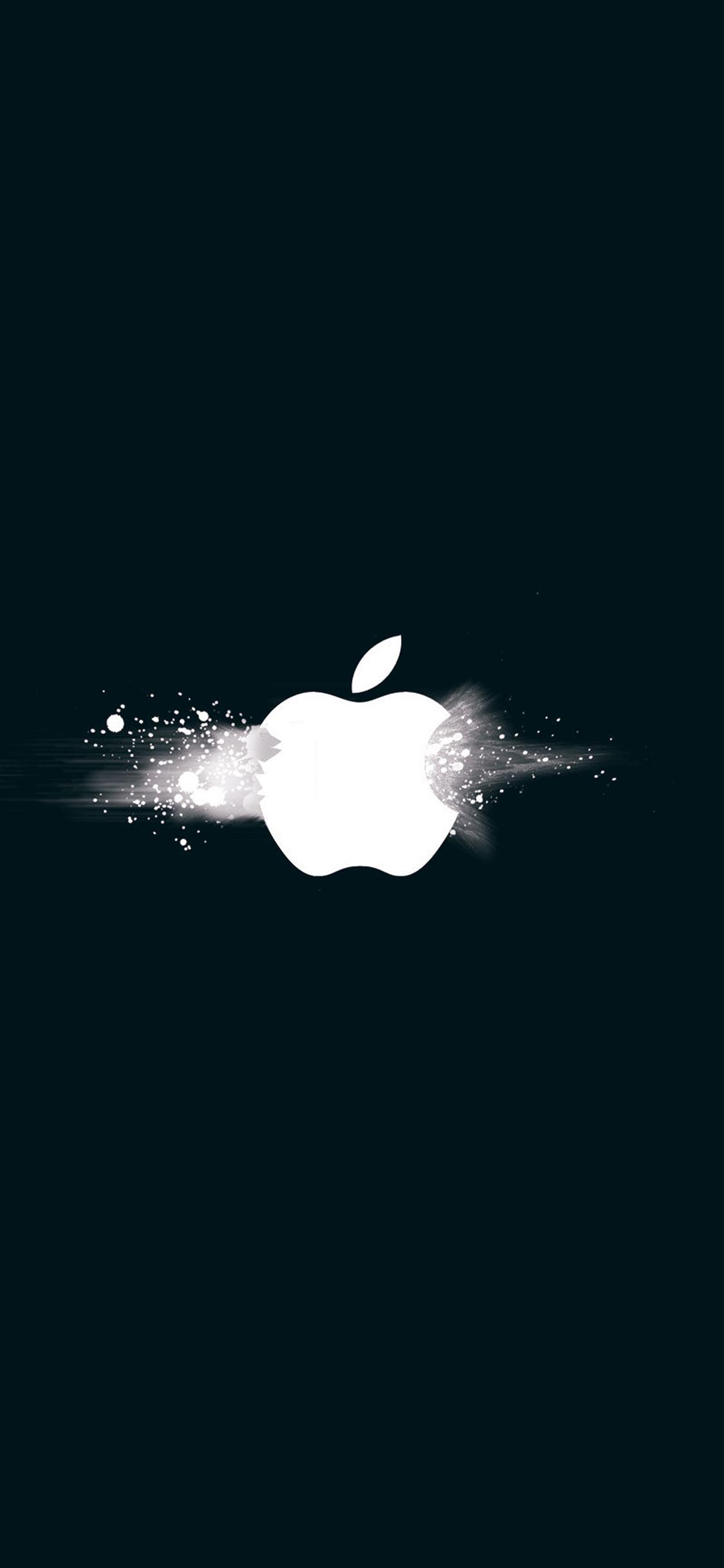 iPhonexpapers.com-Apple-iPhone-wallpaper-ay47-apple-logo-ihate-blue-minimal-illustration-art
