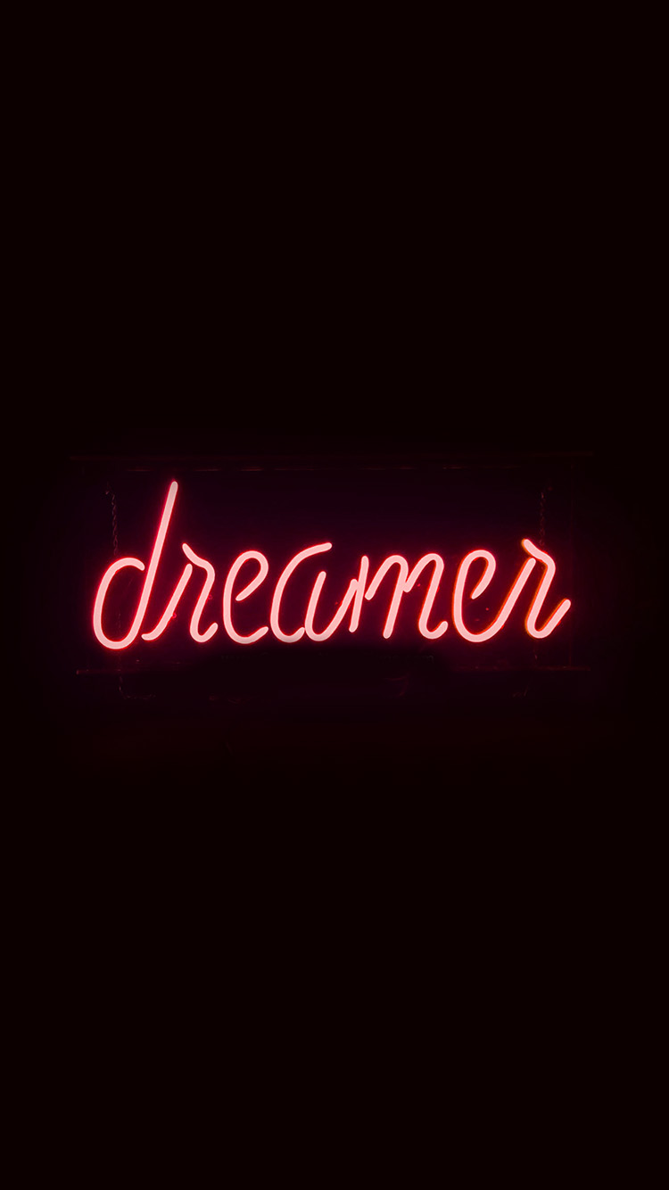 iPhone7papers.com-Apple-iPhone7-iphone7plus-wallpaper-ay56-dreamers-neon-sign-dark-illustration-art-red