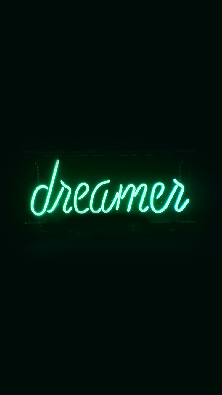 iPhonepapers.com-Apple-iPhone-wallpaper-ay58-dreamers-neon-sign-dark-illustration-art-green