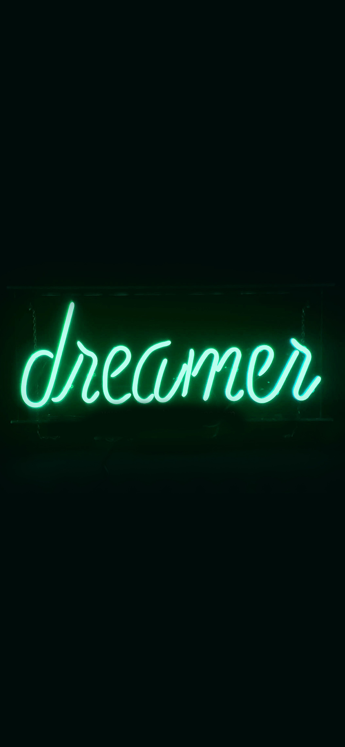iPhonexpapers.com-Apple-iPhone-wallpaper-ay58-dreamers-neon-sign-dark-illustration-art-green