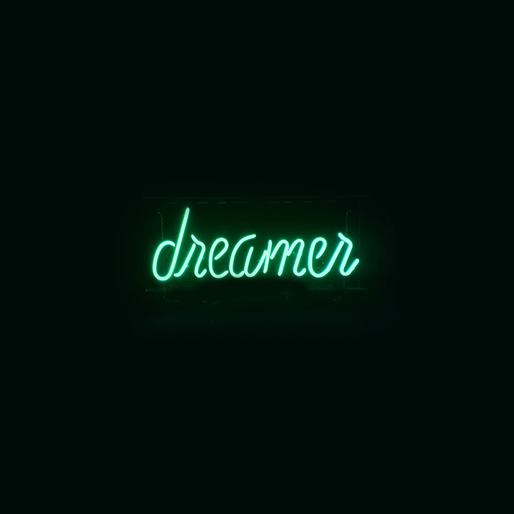 wallpaper-ay58-dreamers-neon-sign-dark-illustration-art-green-wallpaper