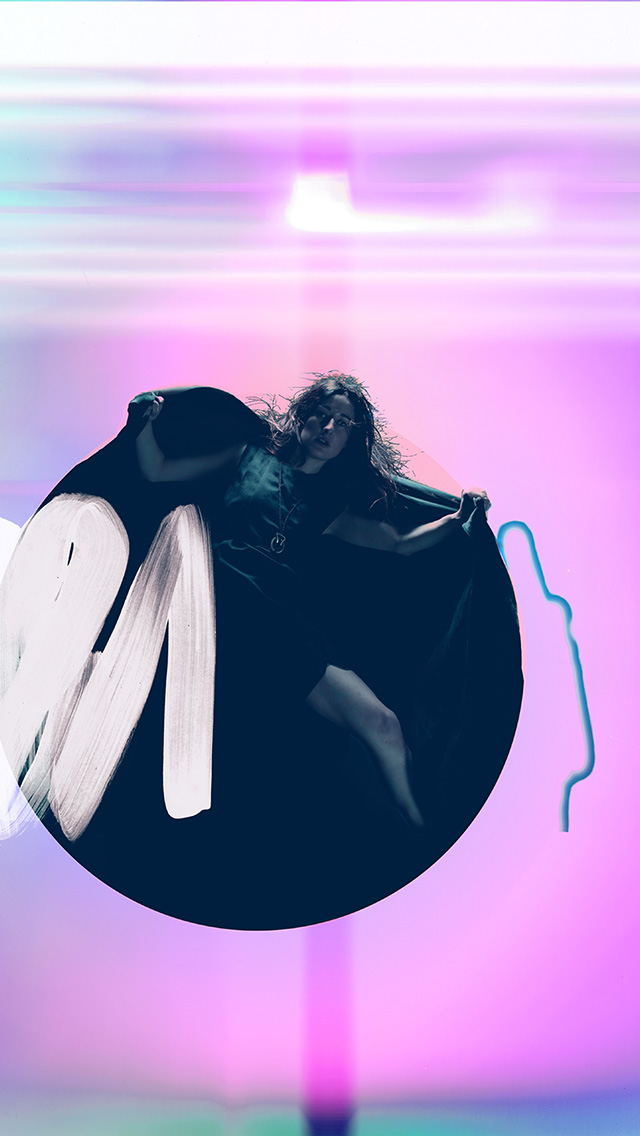 freeios8.com-iphone-4-5-6-plus-ipad-ios8-ay70-album-art-girl-neon-light-minimal-illustration-art-purple