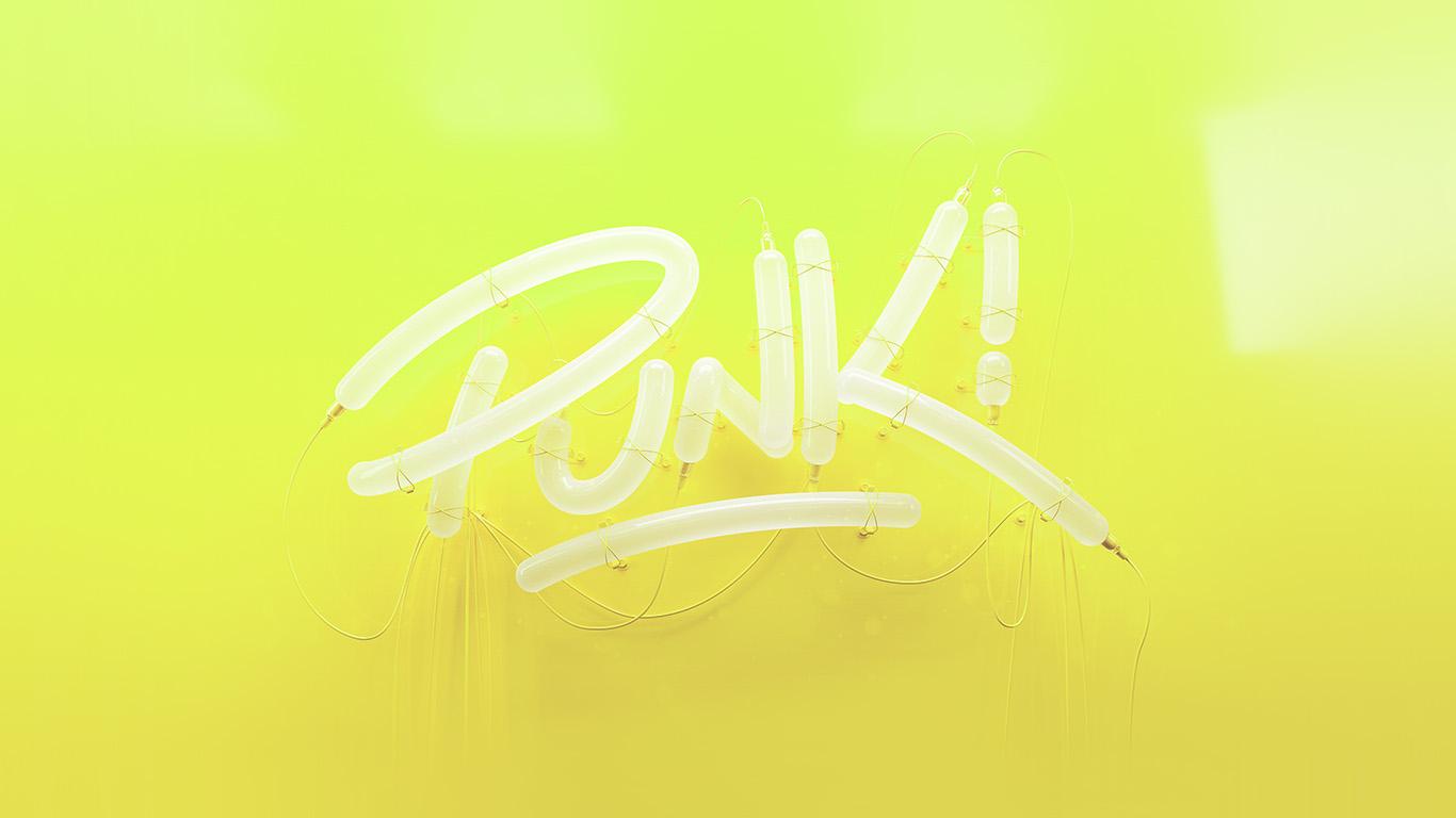 papers.co ay79 punk neon sign art minimal illustration art yellow 29 wallpaper