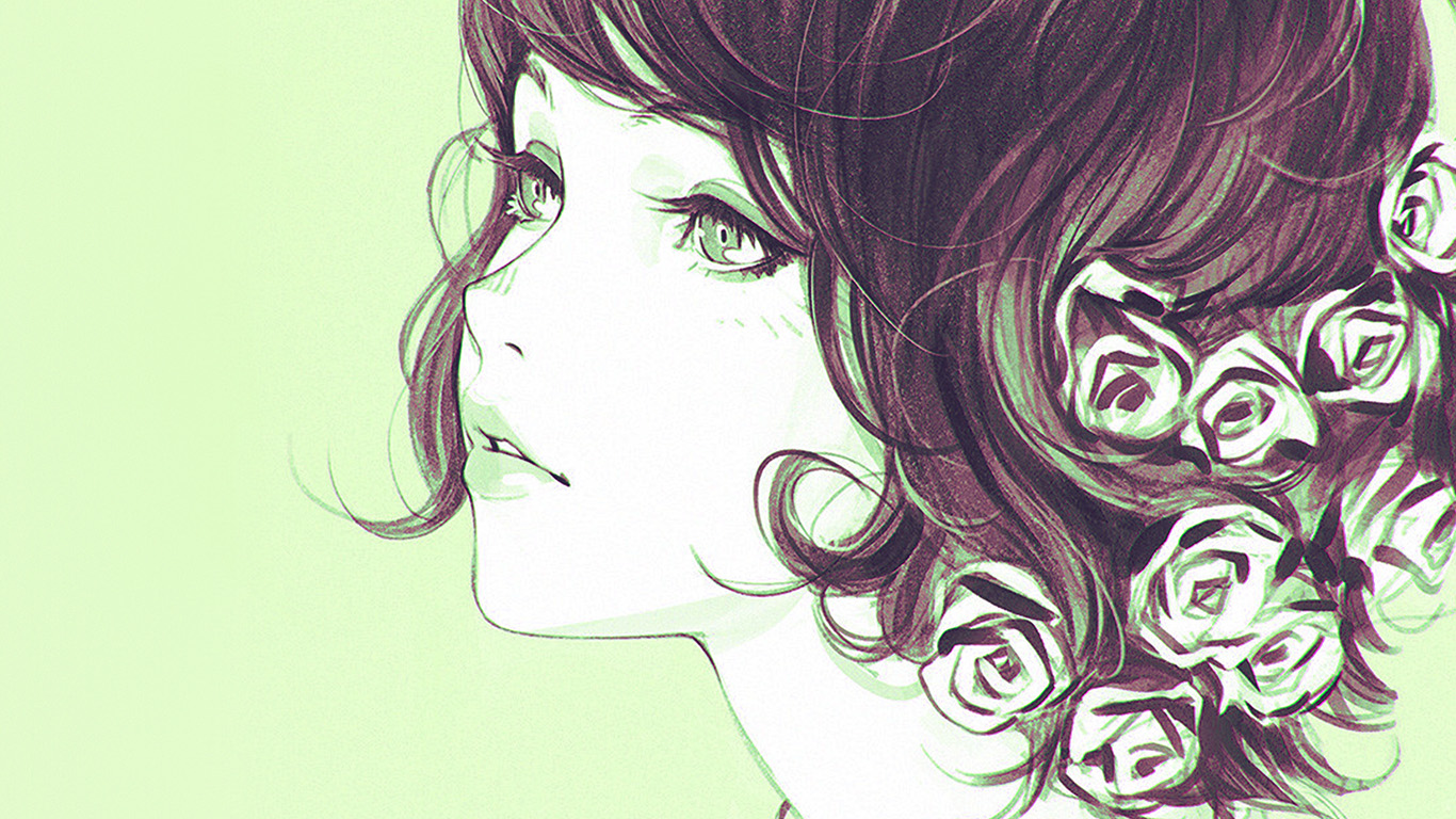 desktop-wallpaper-laptop-mac-macbook-air-az02-girl-flower-lady-green-ilya-kuvshinov-illustration-art-wallpaper