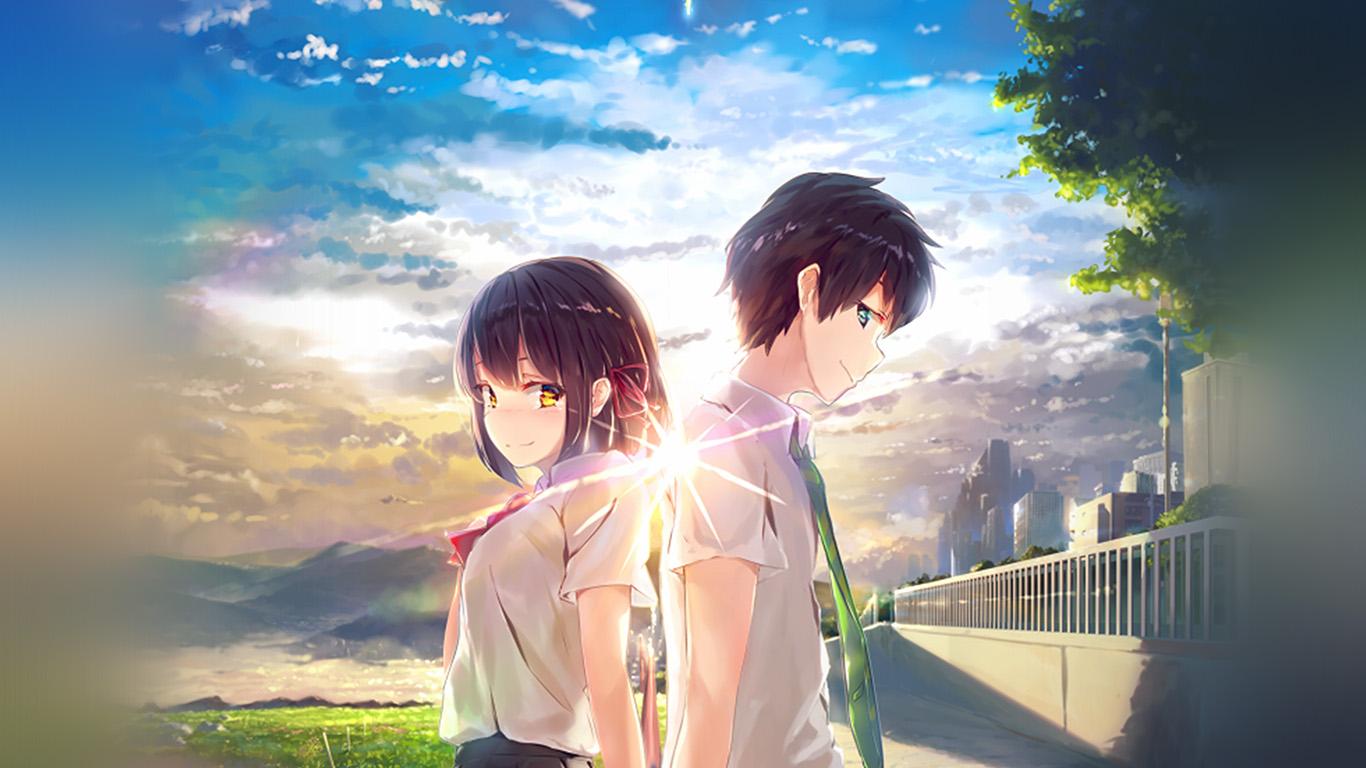 Wallpaper For Desktop Laptop Az03 Anime Yourname Sky Illustration Art