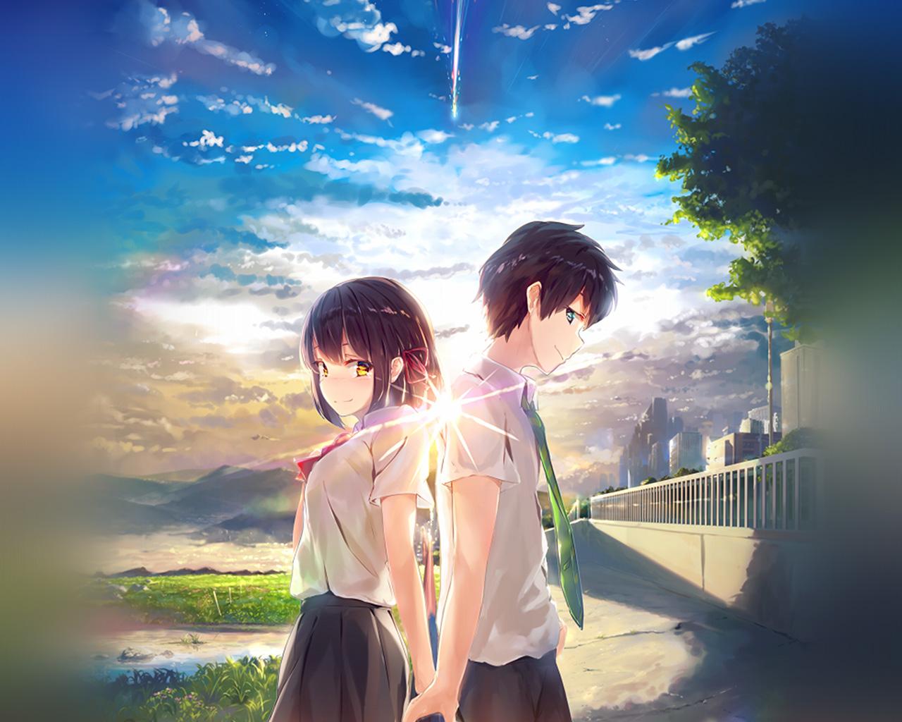 Az03 Anime Yourname Sky Illustration Art Wallpaper