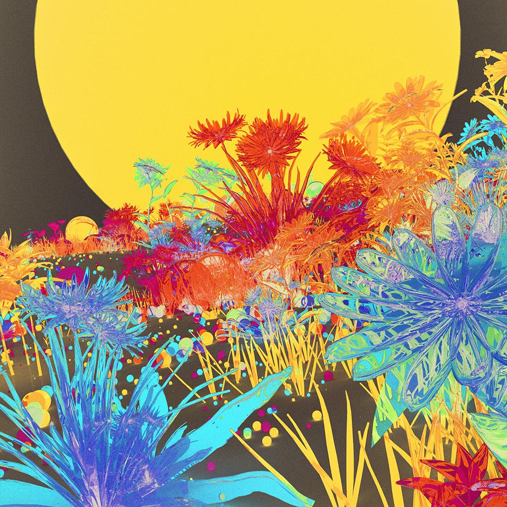 az09-flower-art-neon-illustration-art-inverted-wallpaper