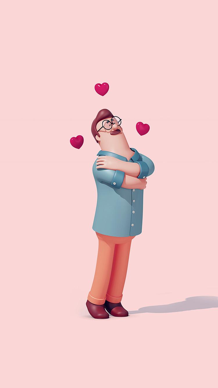 Papers.co-iPhone5-iphone6-plus-wallpaper-az11-love-boy-3d-illustration-art-pink