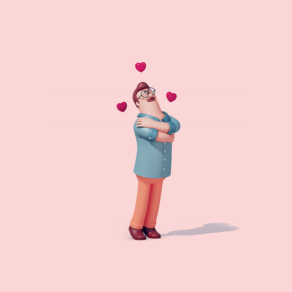 android-wallpaper-az11-love-boy-3d-illustration-art-pink-wallpaper