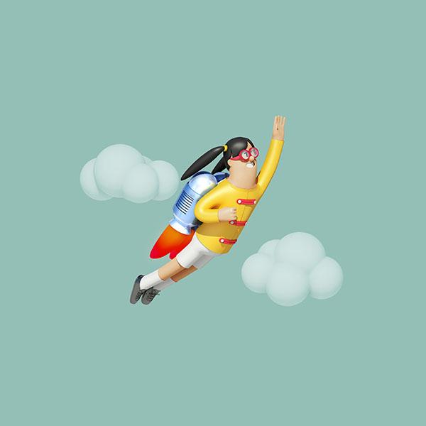 iPapers.co-Apple-iPhone-iPad-Macbook-iMac-wallpaper-az24-girl-fly-3d-illustration-art-wallpaper