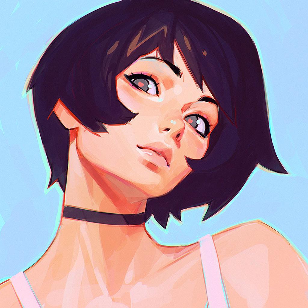 android-wallpaper-az35-girl-face-ilya-kuvshinov-illustration-art-wallpaper