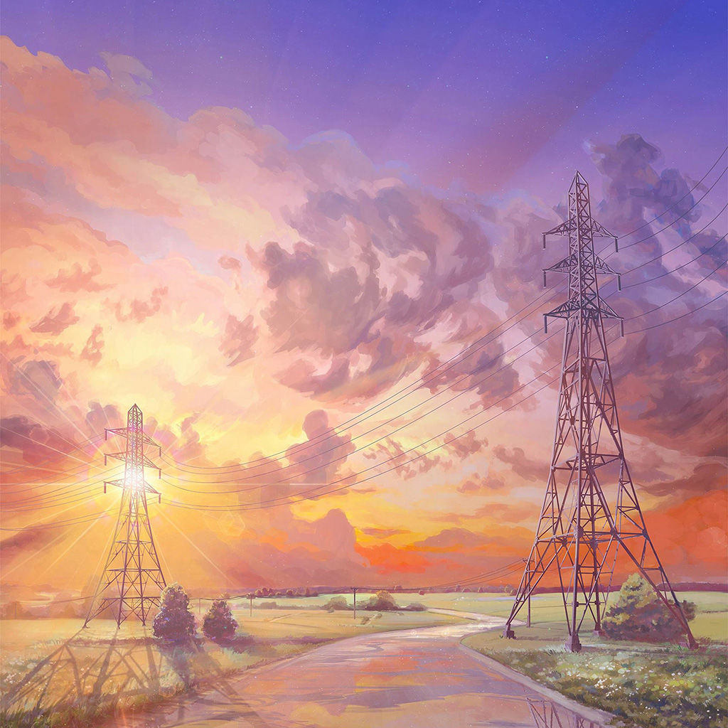 Samsung Wallpaper: Az41-arseniy-chebynkin-sunset-illustration-art-wallpaper