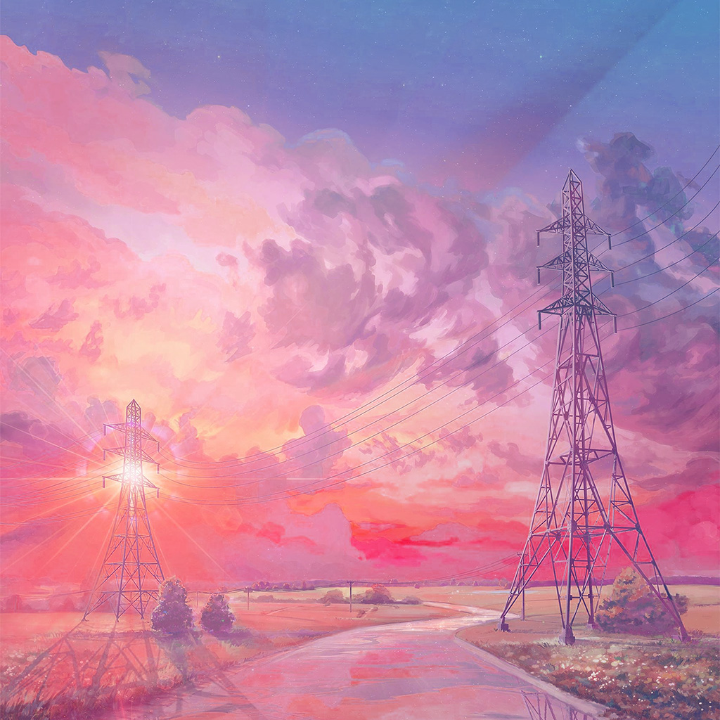 wallpaper-az42-arseniy-chebynkin-sunset-illustration-art-pink-wallpaper