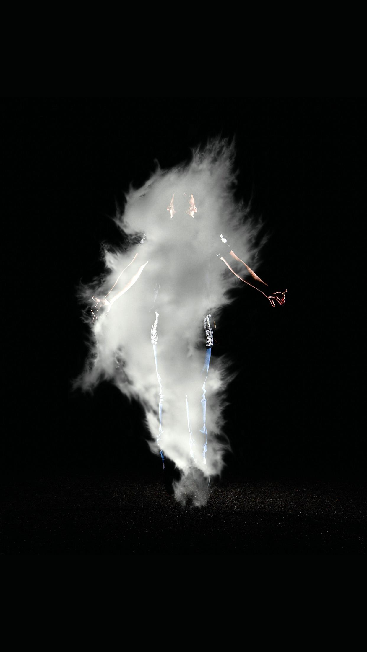 Iphonexpapers Com Iphone X Wallpaper Az49 Man Dark Smoke Illustration Art Black