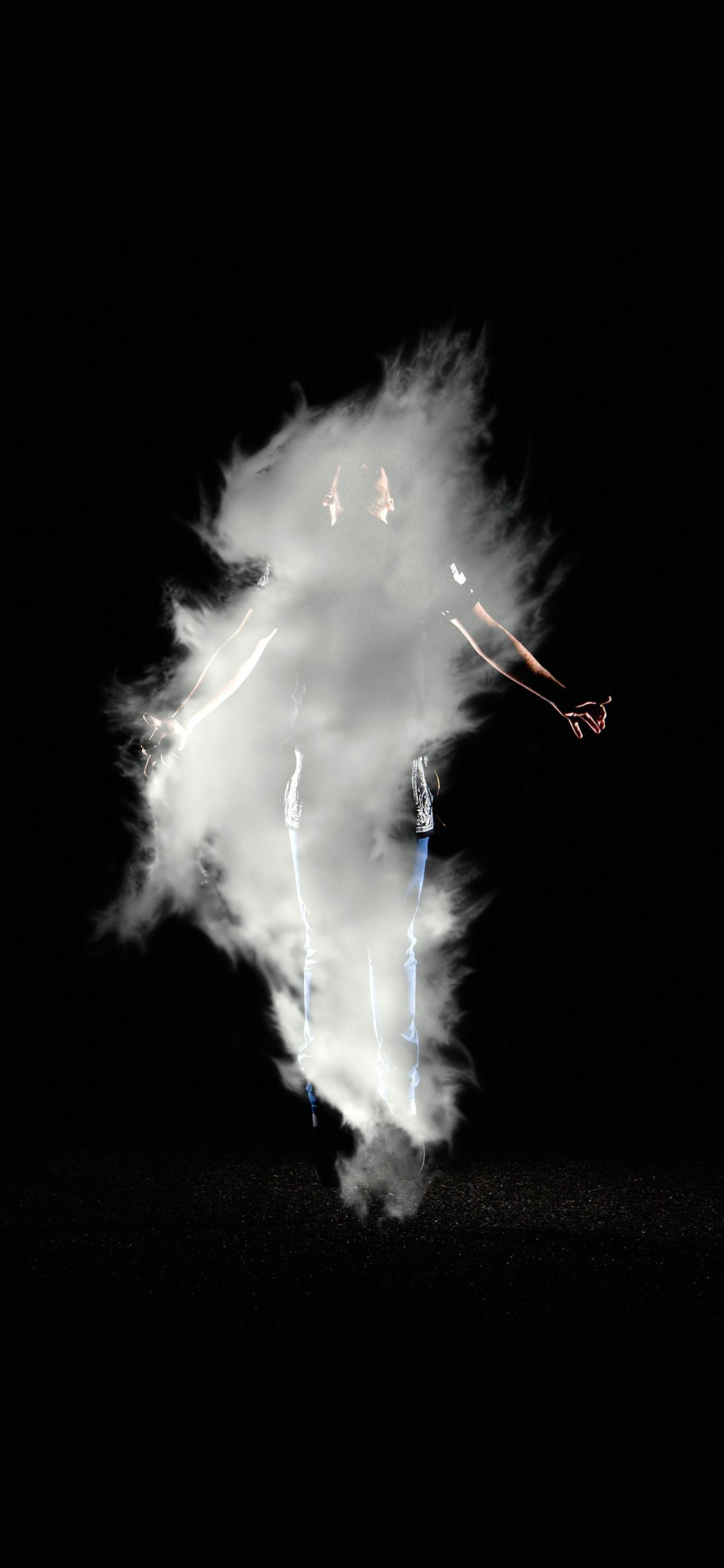 Papers Co Iphone Wallpaper Az49 Man Dark Smoke