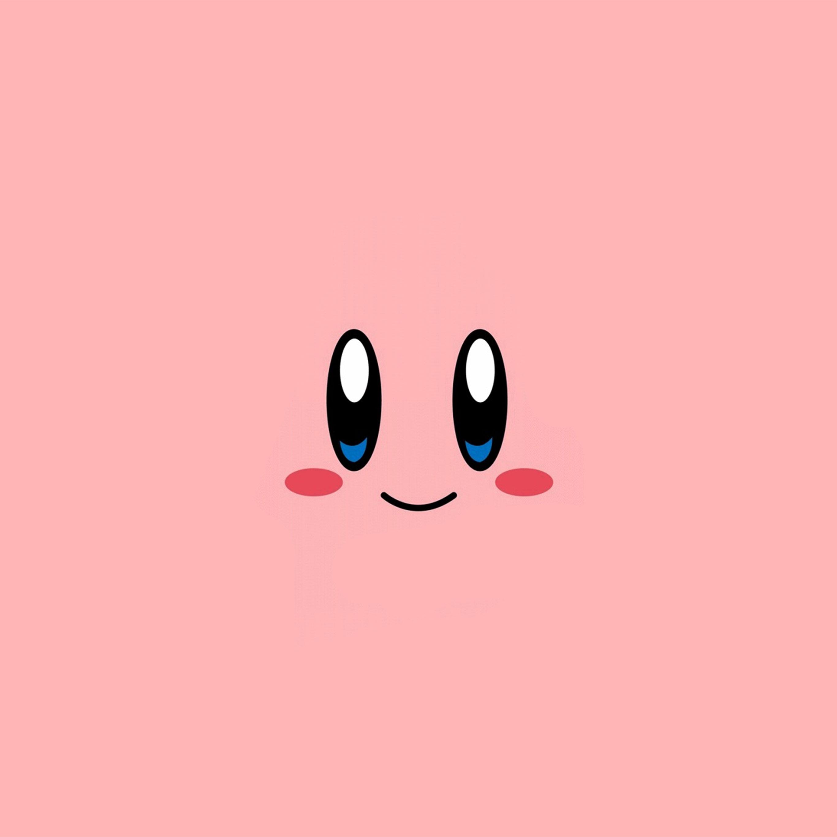 Az54 Kirby Pink Face Cute Illustration Art Wallpaper