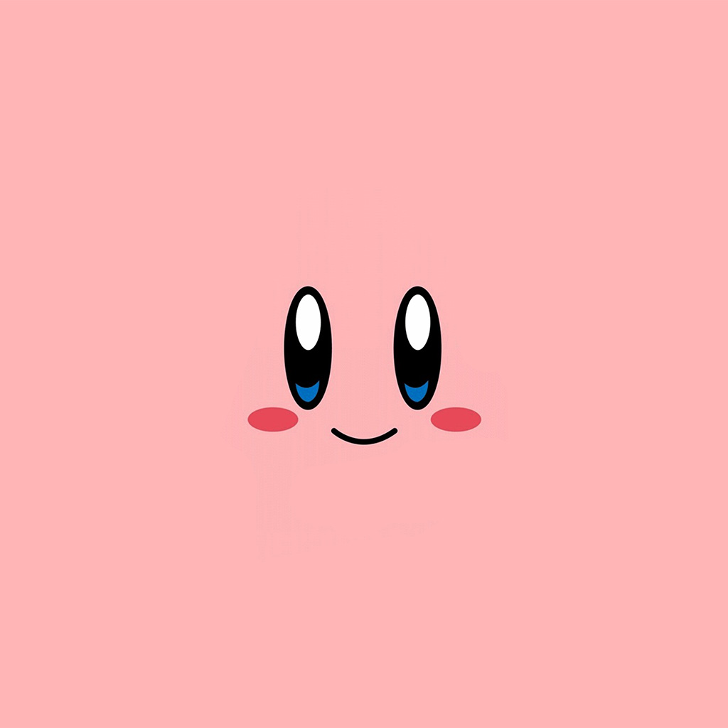 wallpaper-az54-kirby-pink-face-cute-illustration-art-wallpaper