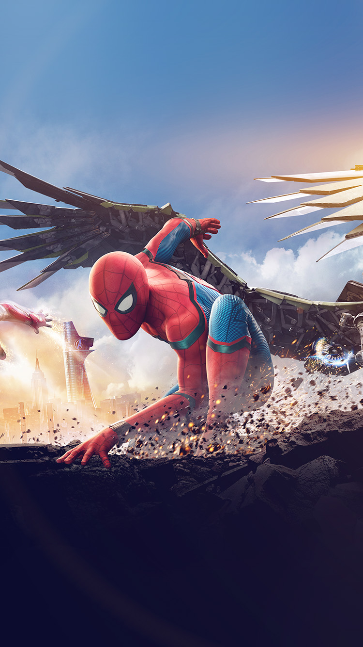 iPhone6papers.co-Apple-iPhone-6-iphone6-plus-wallpaper-az57-homecoming-spiderman-hero-marvel-illustration-art-flare