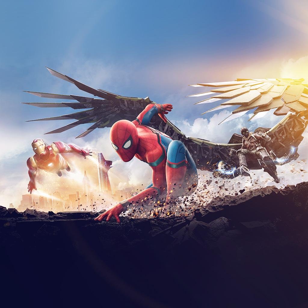 android-wallpaper-az57-homecoming-spiderman-hero-marvel-illustration-art-flare-wallpaper