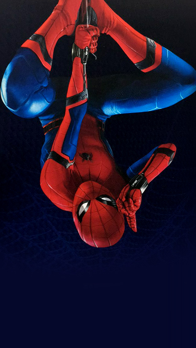 freeios8.com-iphone-4-5-6-plus-ipad-ios8-az61-spiderman-homecoming-hero-film-illustration-art