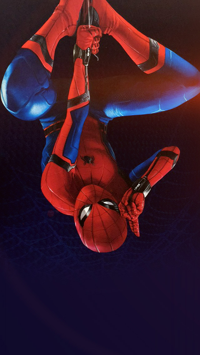freeios8.com-iphone-4-5-6-plus-ipad-ios8-az62-spiderman-homecoming-hero-film-illustration-art-flare